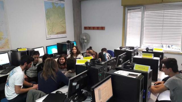 La redazione degli studenti reporter del liceo Archimede di Acireale